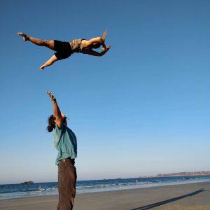 standing partner acrobatics training